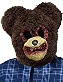 Herren Halloween Braun erschreckend Zombie Teddybär Halloween Kostüm Maske - Braun, One Size