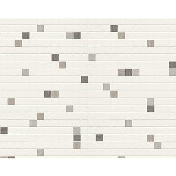 Livingwalls 607744 Papier Peint Cuisine Carreaux de Salle de bain ...