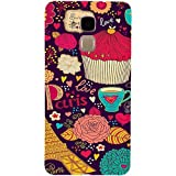 Casotec Paris Flower Love Design 3D Hard Back Case Cover for Huawei Honor 5c