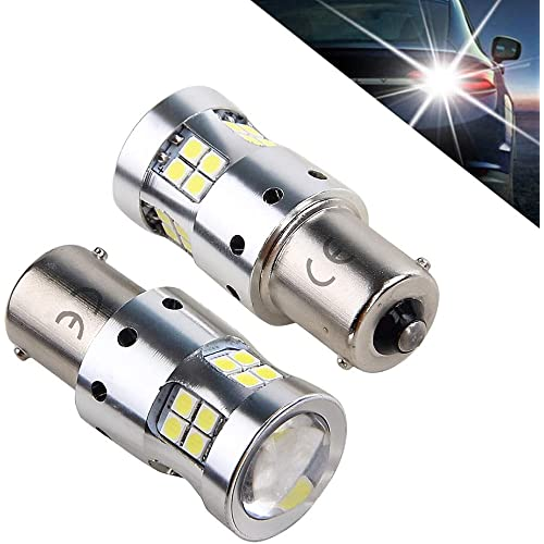 1156 P21w Ba15s 7506 1141 12V 24V 8w Lampadine LED Luminoso Eccellente per Auto Moto, 6000K Bianco Con Lente Proiettore, per luce di retromarcia, Luci Posteriori, luci di posizione, luci diurne. 2pz