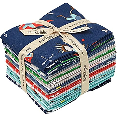 Cinderberry Stitches Greatest Adventure 18 Fat Quarter Bundle Riley Blake Designs FQ-5140-18 by Riley Blake Designs - Quarter Fat Fq Bundle