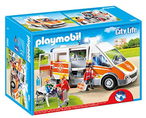 Playmobil - Ambulancia con luces y sonido 66850