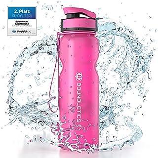 Boundletics Trinkflasche 1L - Wasserflasche BPA frei - Tritan Sportflasche pink