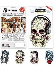 Amazon Fr Tattoo Tete De Mort Beaute Et Parfum