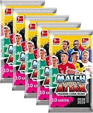 Topps Match Attax 2018/19 - 5 Booster - Deutsch