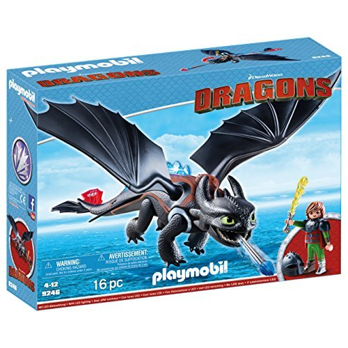 Playmobil 9246 DreamWorks Dragons Hiccup and Toothless with LED Light Effects