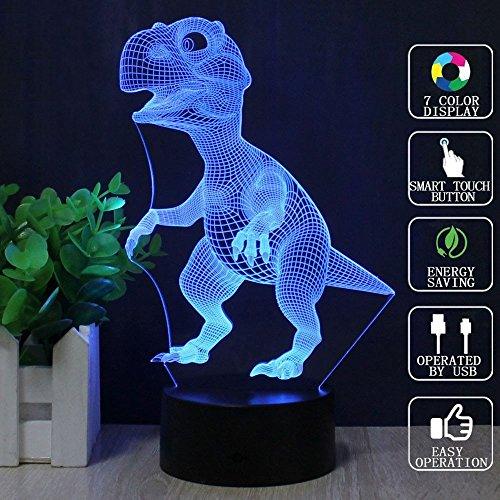 Magisches Nachtlicht 3D, intelligenter Berührungsschalter mit USB-Ladegerät-Kabel-Lampe, 7 Farben blinkende Illusionslampe, Hauptdekoration-Tischlampe, Kindertagesgeschenke