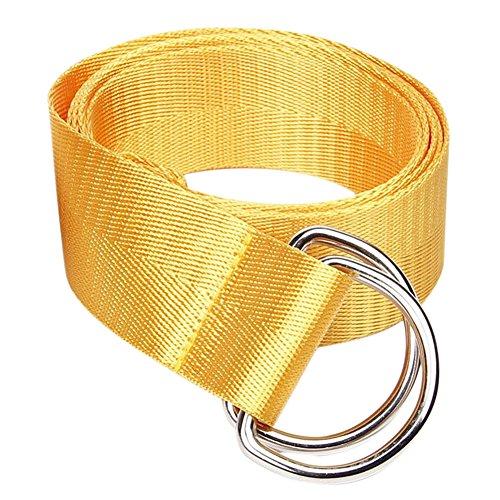 Cinturón amarillo de Lona de hebilla clásica