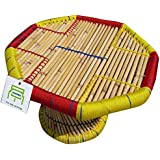 Ecowoodies Ribes Activity Cum Study TableHandiCraft Indoor / Outdoor Sitting Cane Bamboo Kids Chair For Sitting Garden Chair Outdoor Kids Furniture Patio Chair Cafeteria Chair Restaurant Chair Resort Chair Hotel Chair Patio Chair