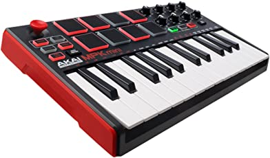 Akai Professional MPK MINI MKII 25-Key Ultra-Portable USB MIDI Keyboard and Pad Controller with Joystick