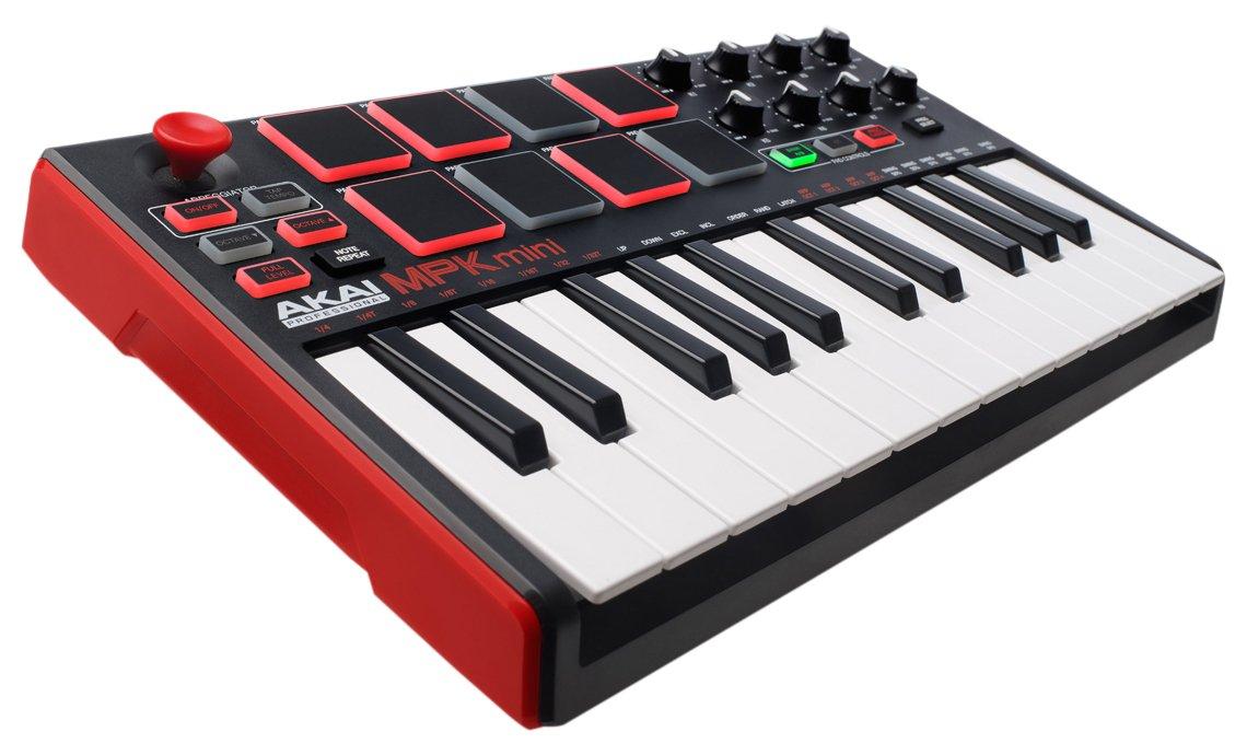 AKAI Professional MPK Mini- Clavier Maître MIDI/USB 25 Touches Sensibles à la Vélocité avec 8 Pads et Joystick 4 Voies + VIP 3.0 et Pack de Logiciels