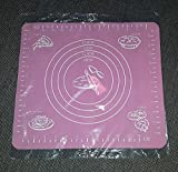 Silikon Rollmatte Backmatte Teigunterlage Ausrollmatte Teigmatte ( 22x 24 cm )