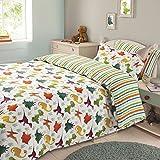 Dreamscene–Juego de cama funda de almohada juego de cama niños niñas dinosaurio