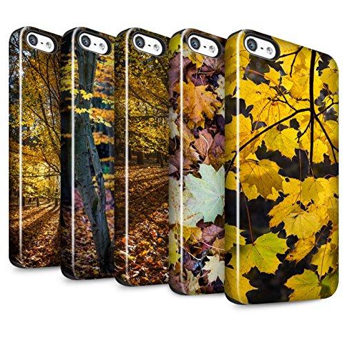 STUFF4 Glanz Harten Stoßfest Hülle / Case für Apple iPhone 5/5S / Pack 5pcs / Herbst Saison Kollektion Pack 5pcs