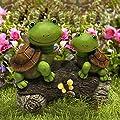 La Jolíe Muse Gartenfigur Deko 6er Set & Garten Deko Gartenfigur Schildkröten von La Jolíe Muse auf Du und dein Garten