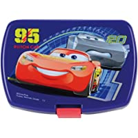 FUN HOUSE 005512 Disney Cars Boîte goûter pour Enfant, Polypropylène, Bleu, 17 x 13,5 x 6,5 cm