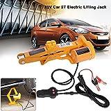 Yosoo Cric elettrico Auto Automatico,12V DC 2T/3T Lift elettrico Cric Sollevatore (2T)