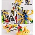 HAHAone robotics building sets science toys for kids , Assembly Building Blocks Bricks Robot DIY Toy Kit,Battery Motor Operated, 3D Puzzle Design Alien Primate Robot Figure