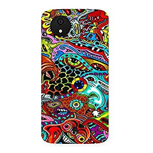 Neo World Psychedelic Art Back Case Cover for Micromax Canvas A1