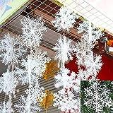 exoh 60pcs Weihnachten Baumschmuck Schneeflocken weiß Kunststoff Snow Weihnachtsschmuck (11cm)