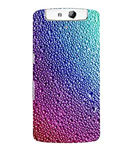 For Oppo N1 bubbles, bubbles pattern, pattern, abstract Designer Printed High Quality Smooth Matte Protective Mobile Case Back Pouch Cover by APEX