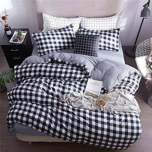 YUNSW Einfache Streifen Stil Moderne Bettwäsche Baumwolle Doppel Königin King Size Bettbezug Quilts Bettbezug C 150x200 cm -