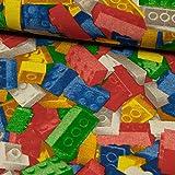 Dekostoff Bausteine bunt Kinderstoff Kinderzimmer -Preis gilt für 0,5 Meter-