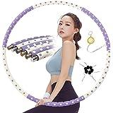 Synchain Hula Hoop Hula Hoop Cerceau Adulte Amovible Hoola Hoop Pneu de 1 à 3,2 kg pour les personnes sensibles à la douleur
