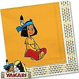 20 Servietten * YAKARI * für Kinderparty und Kindergeburtstag von DH-Konzept // Indianer Indianerjunge Sioux Kleiner Donner Napkins Papierservietten Party Set
