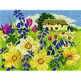 DMC–Kit de punto de cruz, diseño de flores de primavera de paisajes de temporada, 100% algodón, varios, 4unidades)