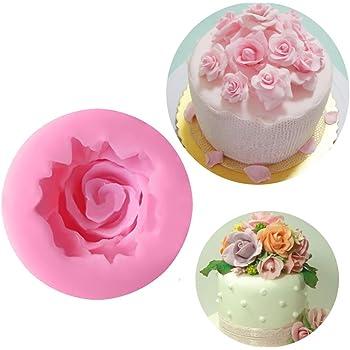 Moule Silicone Rose Decoration Fleur Gateau Patisserie Pate A Sucre