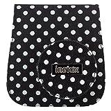 Fujifilm 70100118338 Instax Mini 8 Tasche mit gepunktetem Leinengewebe schwarz/weiß