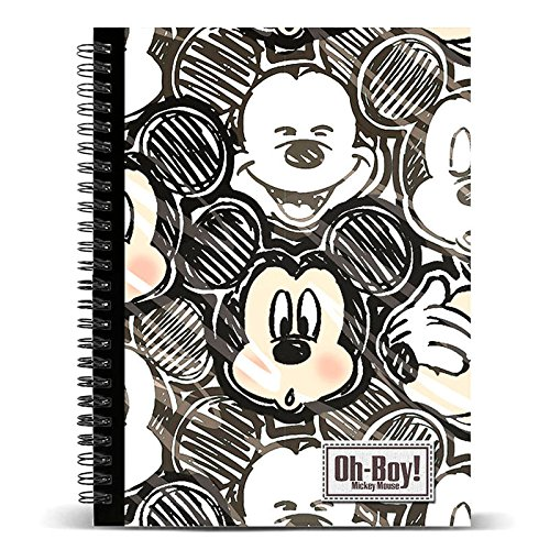 KARACTERMANIA Disney Classic Topolino Oh Boy-Quaderno a Quadretti DIN A5