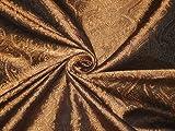Brokat Stoff Kupfer/Bronze & Schwarz 111,8cm Hobbys, Home