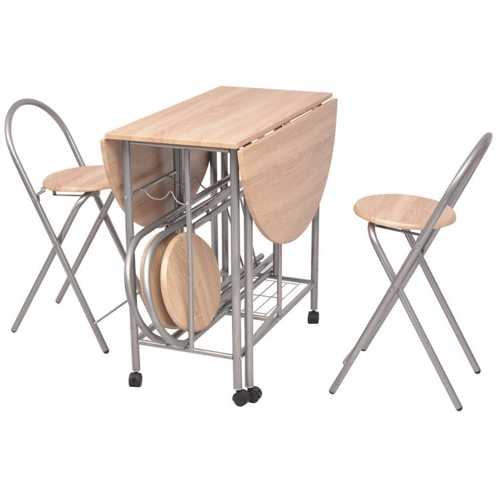 Vidaxl Ensemble De Salle A Manger Pliable Table Et Chaises 5 Pieces