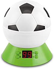 MOKOQI Self Rotating Football Night Star Projector Plastic Lamp with LED Timer Lighting and USB Battery Powered