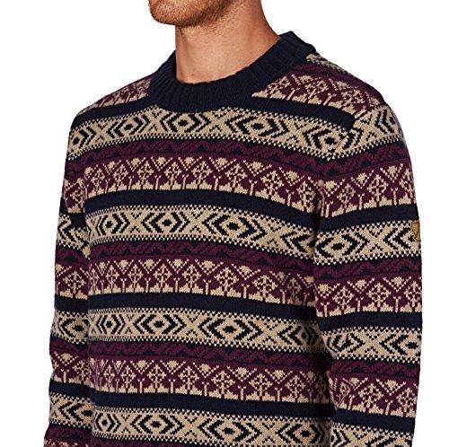 Fjällräven Herren Övik Folk Knit Sweater Pullover Dark Navy