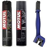 Kit nettoyant lubrifiant pour chaîneMotul C4400ml + C1400ml + brosse de nettoyage pour chaîne
