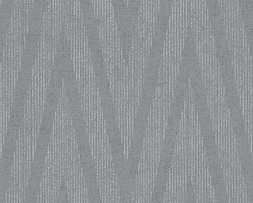 Livingwalls Tapete Titanium Mustertapete grau metallic 306453