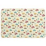 Jeteven Baby matratzenauflage wasserdicht 120x150cm- Wickelauflage-betteinlage-Inkontinenz-Matratzenauflage für Baby Kleinkind Erwachsene Beige Auto