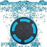 Premium kalite duş Hoparlör, su geçirmez IP67taşınabilir kablosuz Bluetooth 4.0hoparlör süper Bass için HD ses ve nefes almasını LED ışık havuzu sahil banyo Boot sauna veya SPA