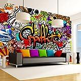 murando – Papier peint intissé 350x256 – Papier peint – Trompe l oeil – Tableaux muraux déco XXL – Graffiti f-A-0348-a-b