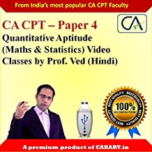 CA CPT Complete Maths & Statistics Video Lectures by Prof.Ved ( Hindi)