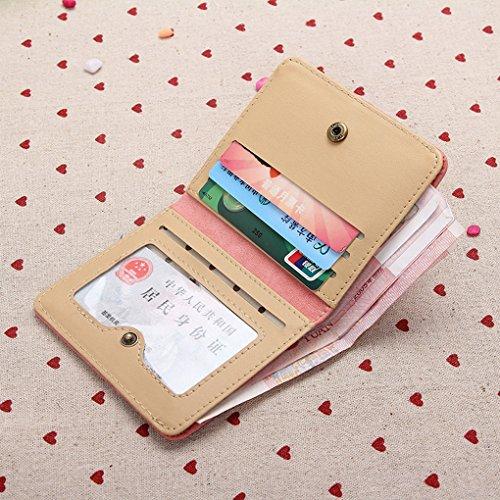 QHGstore Nette Mädchen-Karten-Mappen-Beutel-Kunstleder-Abdeckungs-Fall Grün