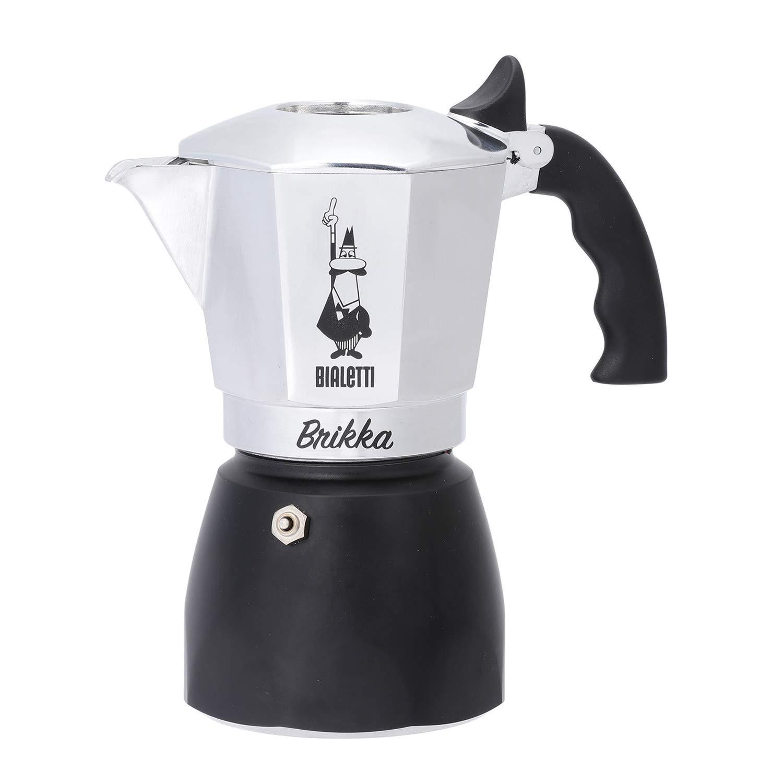 Bialetti Moka New Brikka Espressokocher für 4 Tassen, Aluminium 6784