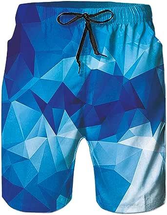 Goodstoworld Mens Swim Shorts 3D Print Running Shorts Quick Dry Summer Beach Surfing Trunks S-3XL