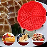 from DTOL DTOL Bakeware High Quality Silicone Waffle Baking Molds Mini Heart Waffle Mold Muffin MouldRed