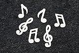 Hb - 24 Notes de musique blanches