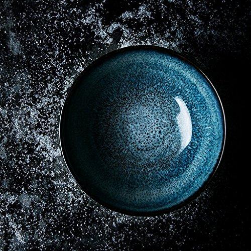Gweat Kreative American Style Keramik Schüssel Retro Geschirr Nudeln Obstsalat Ramen Suppe Große Schüssel (Farbe : 3) Retro Keramik