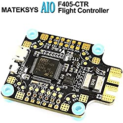 LITEBEE Matek AIO F4 Controladora De Vuelo + PDB 4 * 30A + Bateflight OSD + BEC Flight Controller (SD Card Slot, VCP+5X UARTs, Current Sensor 200A) for FPV Racing RC Drone Quadcopter by